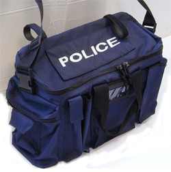Police Blue Vehicle Duty Bag